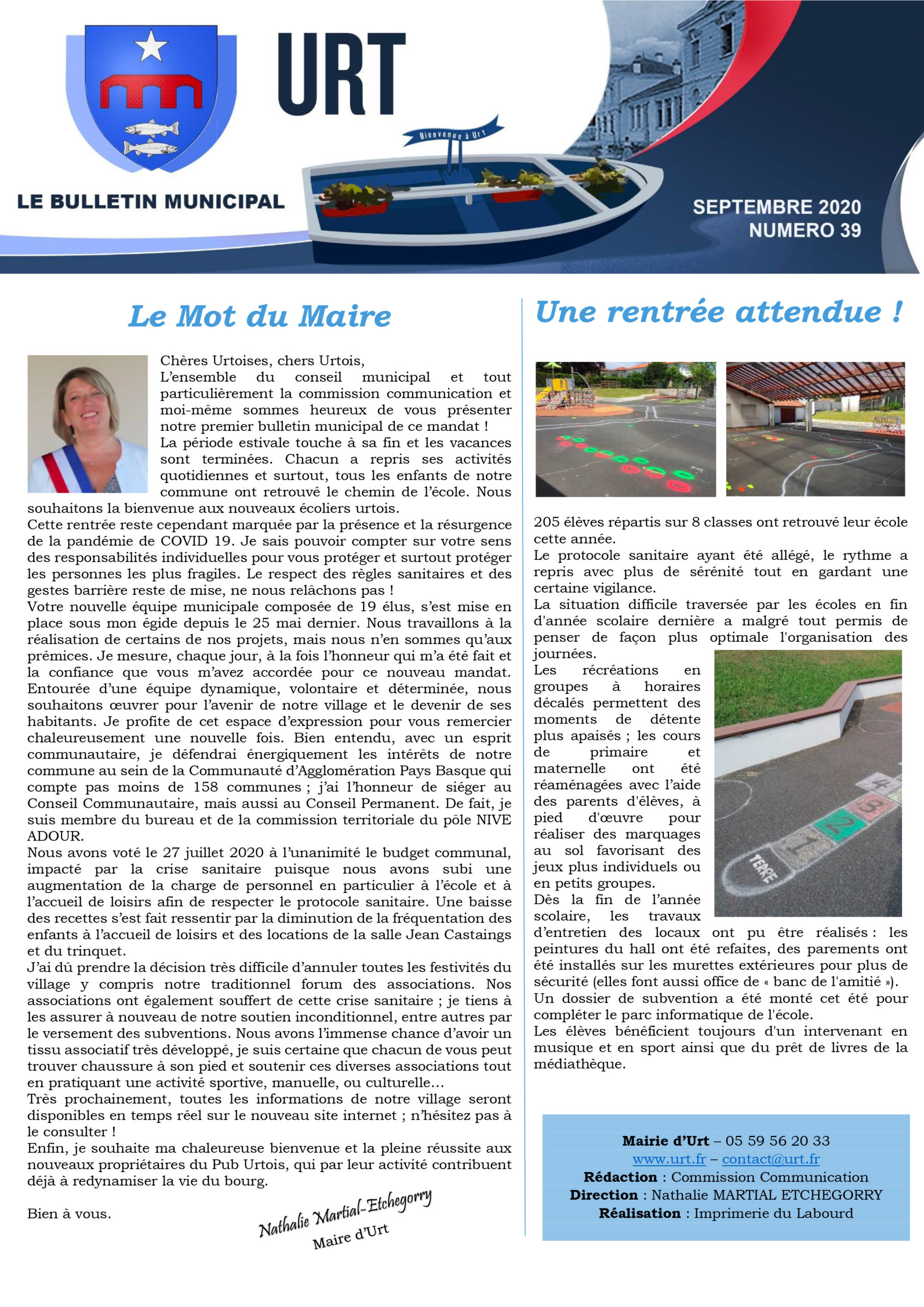 Bulletin municipal - septembre 2020
