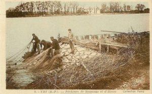 Carte Postale de pêcheurs à Urt