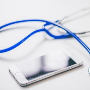 Vue sur un sthétoscope