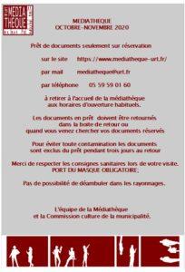 Affiche COVID Médiathèque