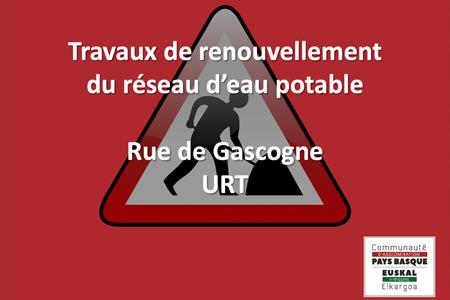 Travaux de renouvellement du réseau d'eau potable – Rue de Gascogne