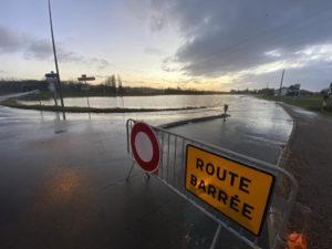 route inondée Urt