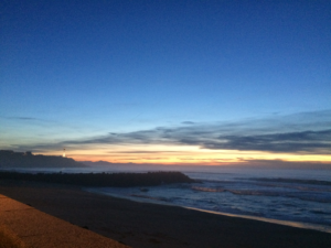Plage d'Anglet nuit