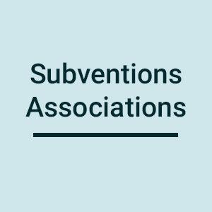 Subventions pour les associations
