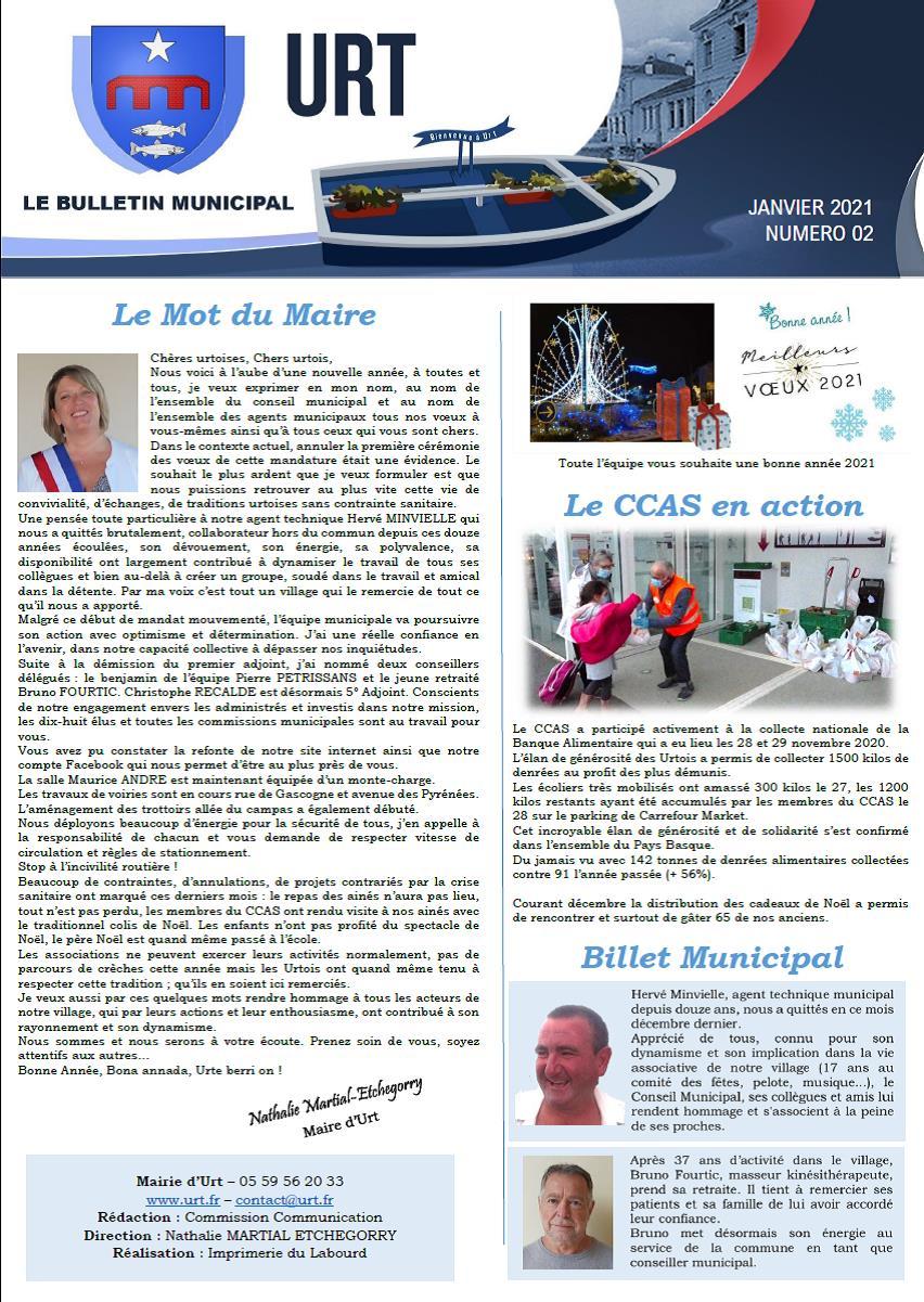 Bulletin 02 Janvier 2021